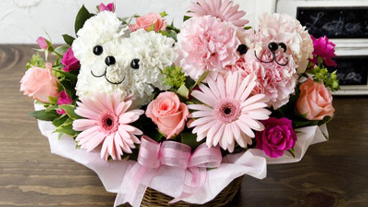 子どもたちも大喜び!お花のクマがかわいらしいフラワーアレンジメント