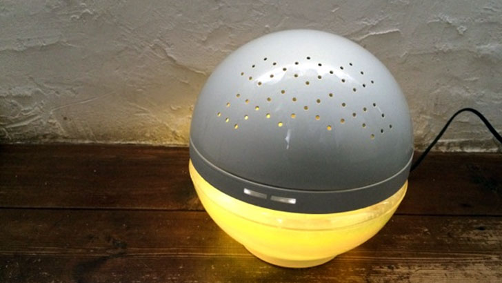 水で空気を洗う、次世代空気清浄機「マジックボール」