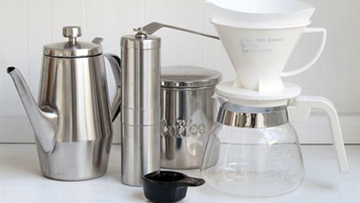 おいしいコーヒーがいつでも飲めるハンドドリップの道具