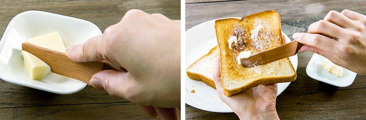 天然木のバターナイフ