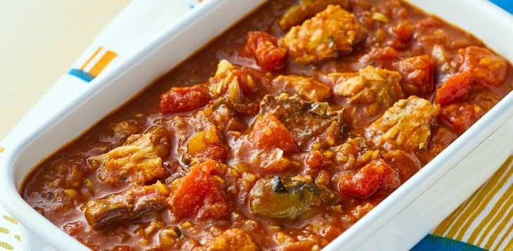 サバ缶のトマトカレー